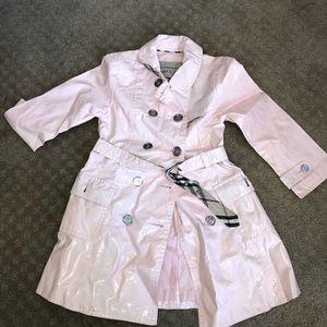 Baby pink Burberry rain jacket